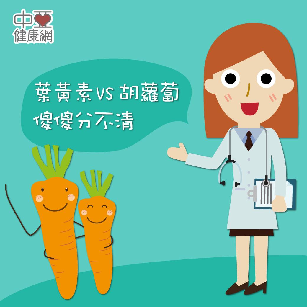 一天攝取 6mg葉黃素,可預防黃斑部病變;而 β 胡蘿蔔素在人體內可轉換成維生素 A,可改善因缺乏維生素 A 而導致的眼睛及皮膚的疾病。